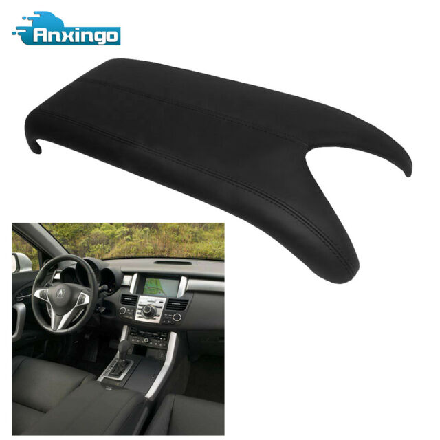 Black Armrest Center Console Lid Cover For 07-12 Acura RDX