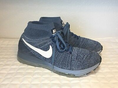 Official Mens Nike Zoom All Out Flyknit Running Shoes Grey