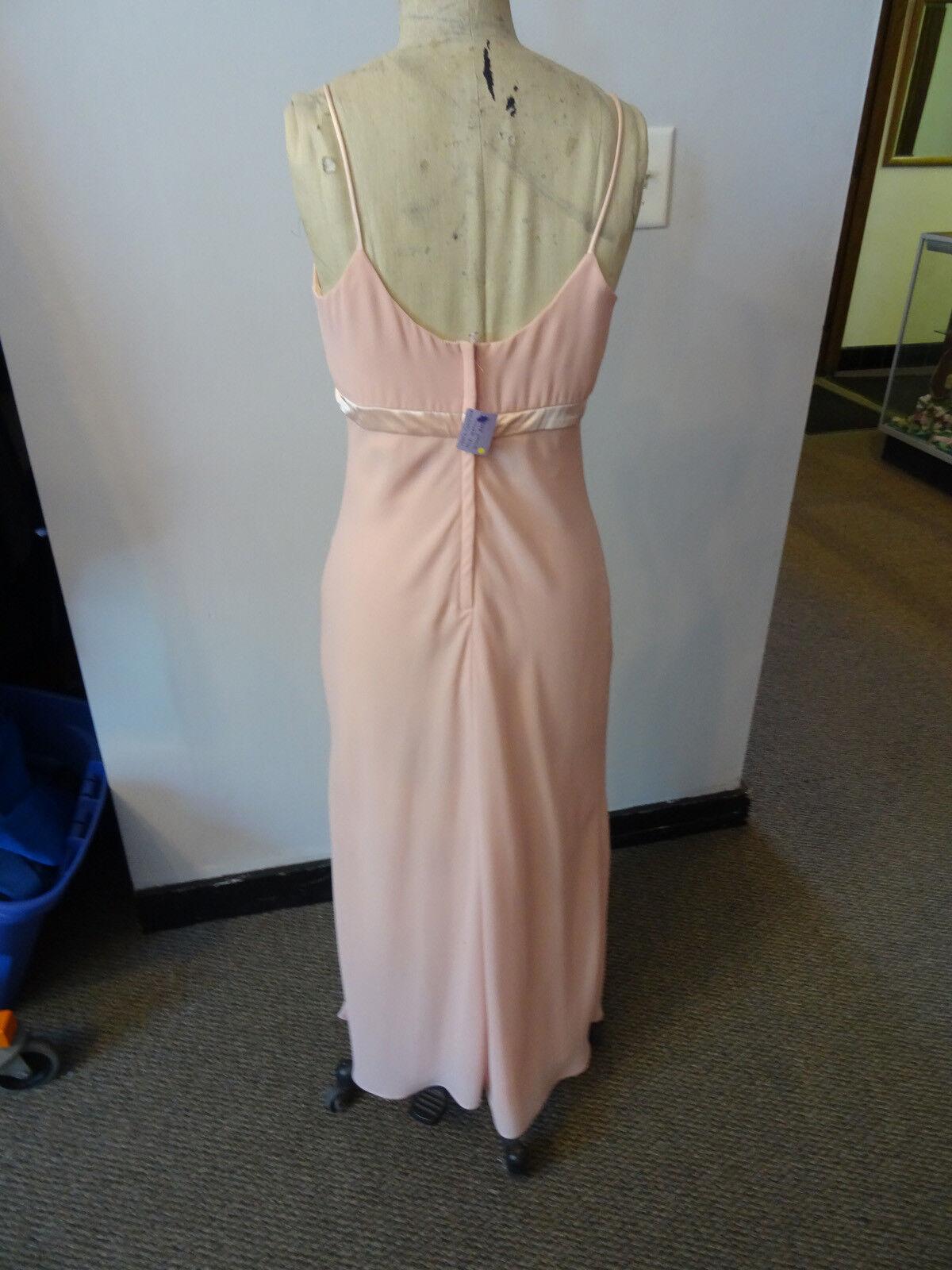 Gunne Sax Pink Formal Sleeveless Dress, Empire Wa… - image 7
