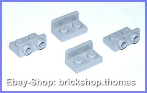Lego 4 x Halterung Platte Winkel grau Light Bluish Gray NEU // NEW 99780