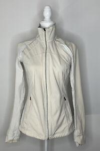Lululemon Women's size 6 Define Ivory Soft Shell Zip Up Jacket K2