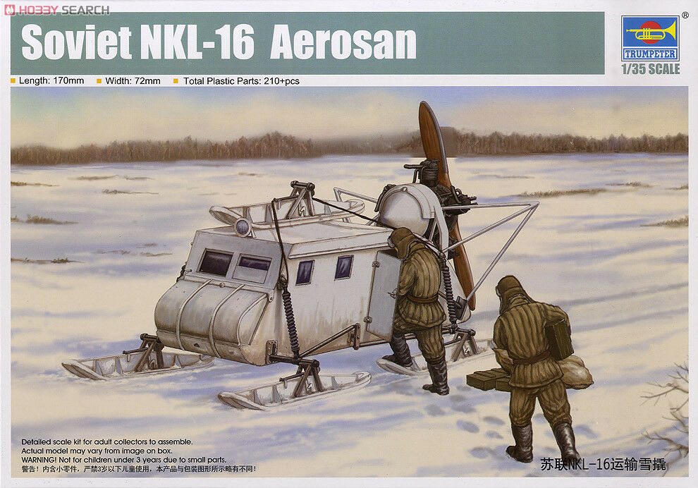 Trumpeter 1 35 Scale Soviet NKL-16 Aepinkn Sled Kit 02337