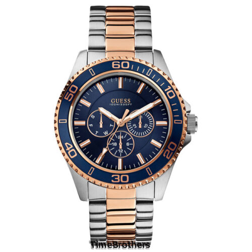 guess men s watches new guess watch for men rose gold silver tone multi function