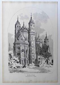 Worms-Der-Wormser-Dom-Holzschnitt-n-Dollinger-1883