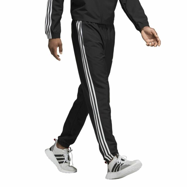 adidas Herren Trainings Jogging Hose Essentials 3 Streifen Wind Pant schwarz