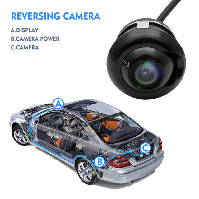 360° Mini HD CCD Car Front Rear View Parking Reverse Backup Camera Night Vision