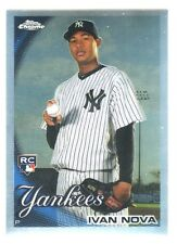 2010 Topps Chrome REFRACTOR 214 IVAN NOVA New York Yankees RC ROOKIE