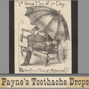 George Francis Train 1800 S Toothache Gold Dust Liniment