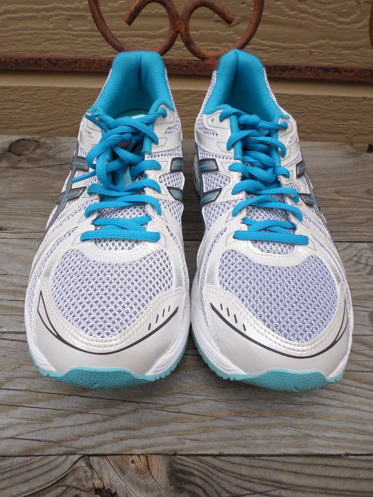 Asics Gel Exalt Shoes White/Silver/Blue Running Shoes Exalt Women's 11 49418a