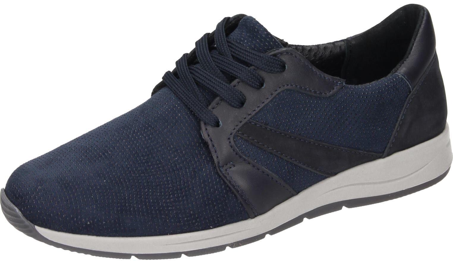 Comfortabel Damen Schuhe Damen-Schnürer - G blau Stretch 950878