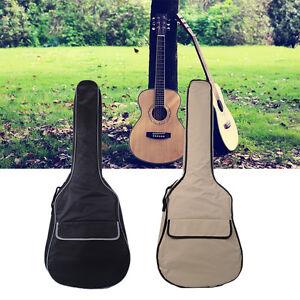 acoustic guitar hard case padded waterproof 4 4 classic guitar case bag 3 4 gift ebay. Black Bedroom Furniture Sets. Home Design Ideas