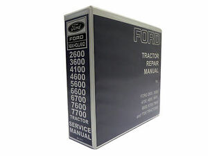 Ford Tractor 2600,3600,4100,4600,5600,5900,6600,7600 Service Manual on