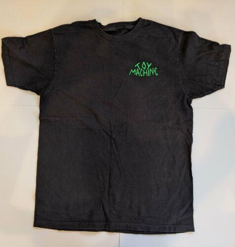 TOY MACHINE Alien CROSS CRUCIFIX Shirt Large Black