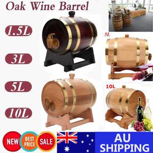 15l 10l Oak Timber Barrel Keg Wine Spirits Whisky Port French