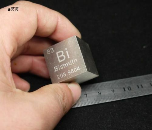 """99.99% High Purity Bismuth Bi Carved Element Periodic Table 1"""" Cube,161g"""
