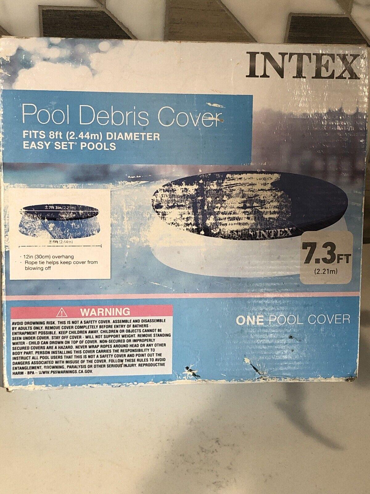 2 Pack Intex 8 Foot Easy Set Above Ground Swimming Pool Debris Vinyl Round Cover Tarp
