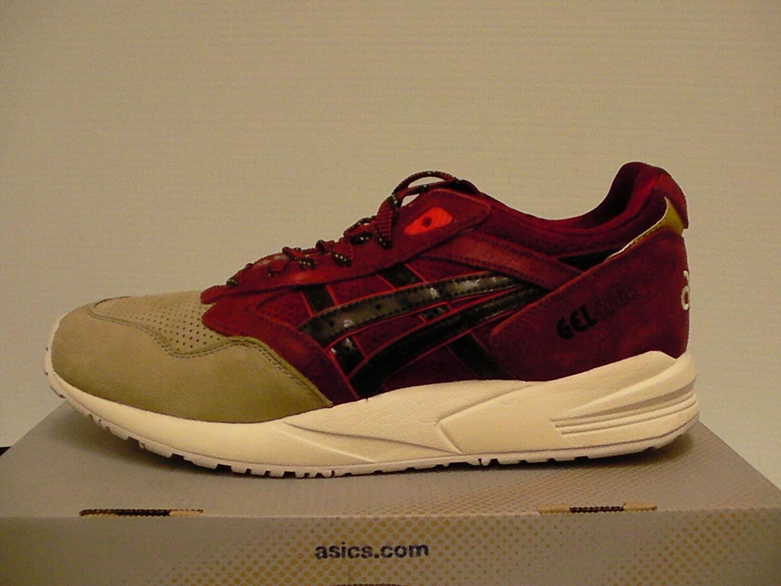 Asics shoes gel saga burgundy dark brown size 8.5 us men new with box