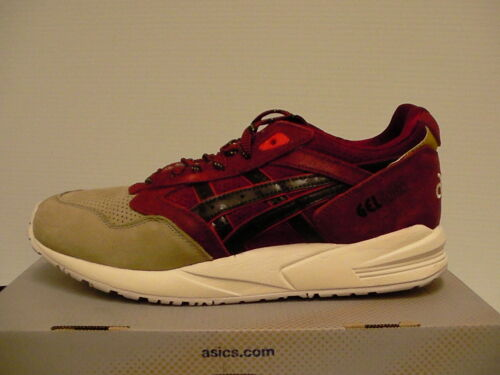 Saga Hombre Nuevo Marrón 5 Us 8 Con Gel Zapatos Asics Caja Size Burdeos Oscuro 6wqERv