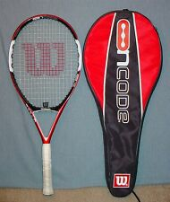 WILSON NCODE N5 OVERSIZE 110 TENNIS RACQUET WITH MATCHING CASE
