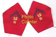 16eme Regt d'Artillerie - Ecussons de col d'Officier pour veste mle 1952/58