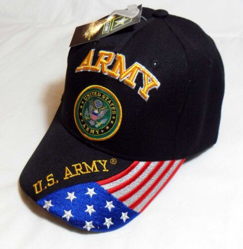 U.S Army OFFICIALLY LICENSED Embroidered With Seal /& Flag Baseball Cap Hat