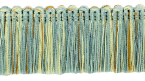 "Blue Gold Pearl|1 3//4/"" Brush Fringe Trim