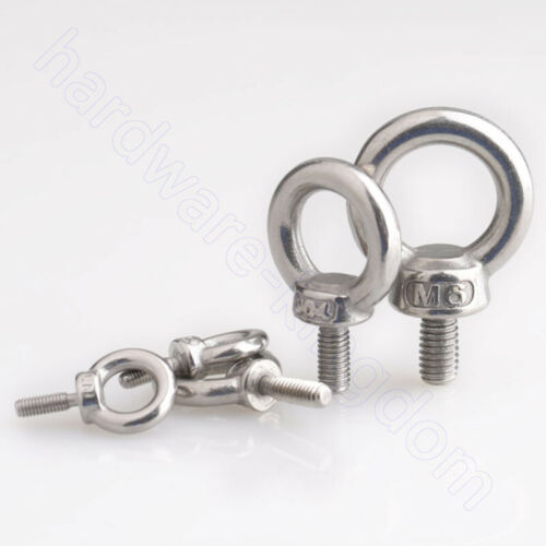 Lifting Eye Bolts A2 Stainless Ring Screws M3 4 5 6 8 10 12 14 16 18 20 24 Bolt
