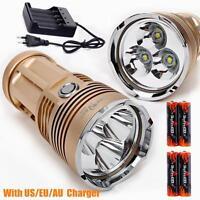 SKY RAY 3x CREE XM-L T6 LED 4000LM Tactical Flashlight Torch Work Lamp + 4x18650