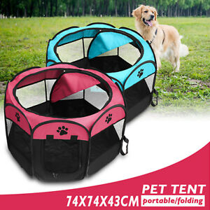 Image Is Loading Folding Portable Doggie Play Pen Small Puppy Dog