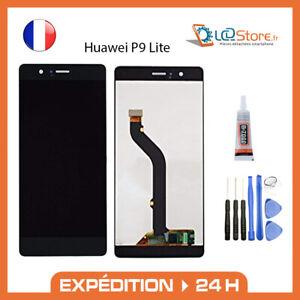 Ecran lcd + vitre tactile Huawei P9 lite Noir VNS-L31 + colle + outils
