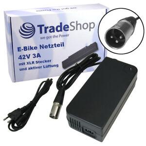Elektrofahrräder Netzteil Ladegerät Ladekabel 42V 2A für 36V Elektro Fahrrad Roller 3pin XLR