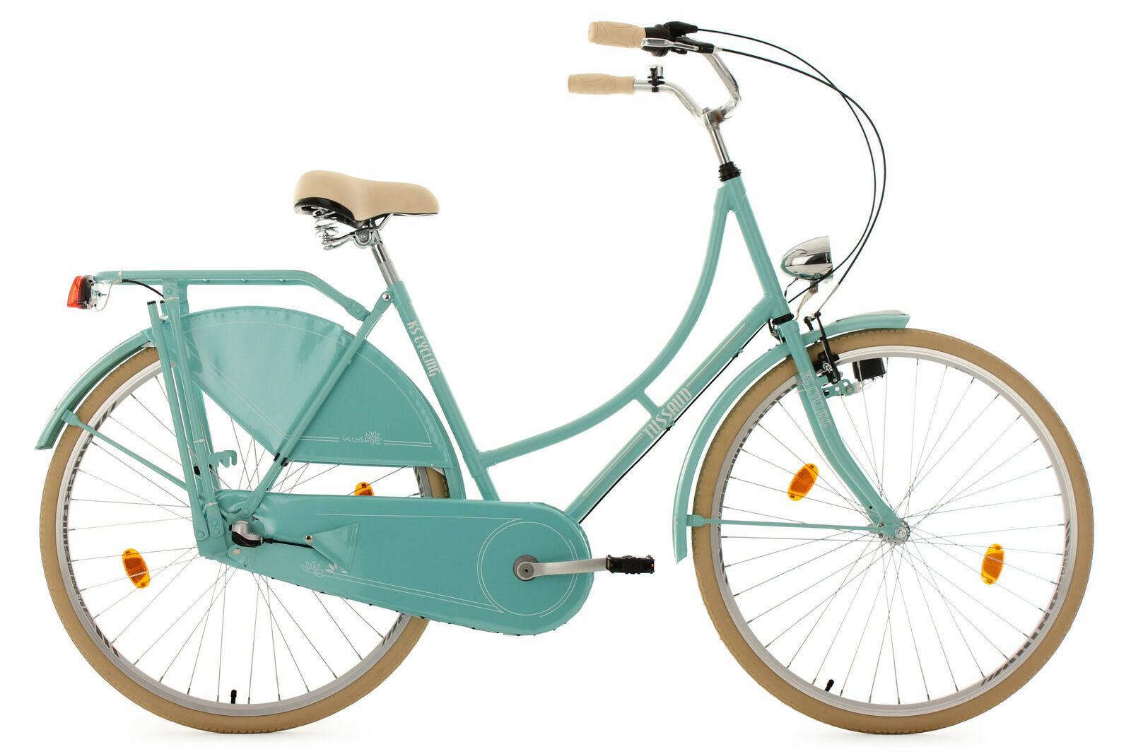 Hollandrad KS Cycling Tussaud 28 Zoll 54cm 3 Gang Damen - grün