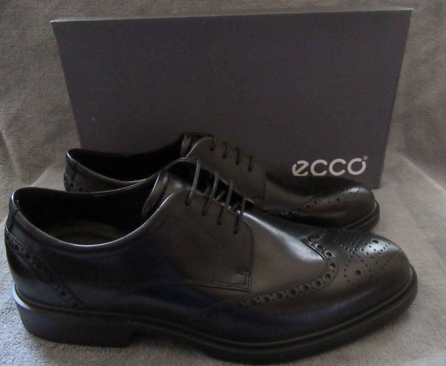 ECCO Uomo Lisbon Brogue Tie 11 Amber Cow Pelle Shoes US 11 Tie - 11.5 M EUR 45 NWB 92e5b5