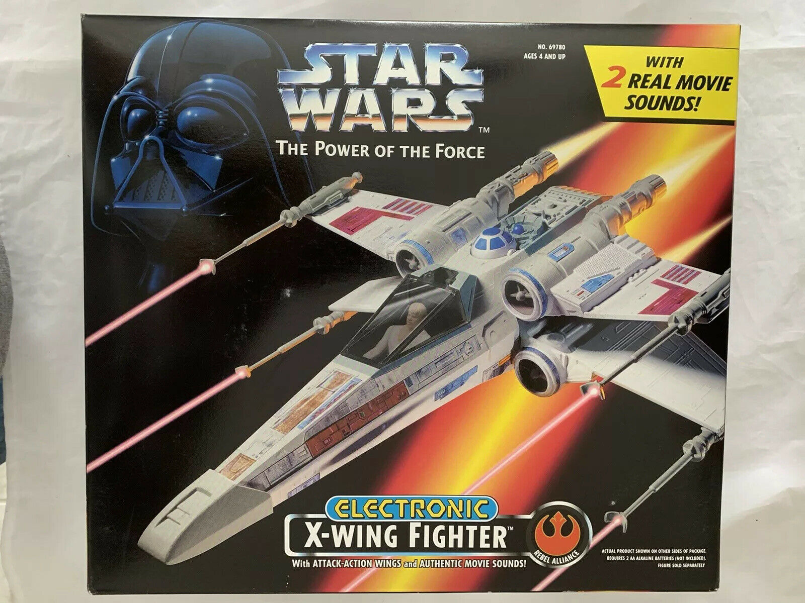 1995 STAR WARS  POWER OF THE FORCE ELECTRONIC X-WING FIGHTER