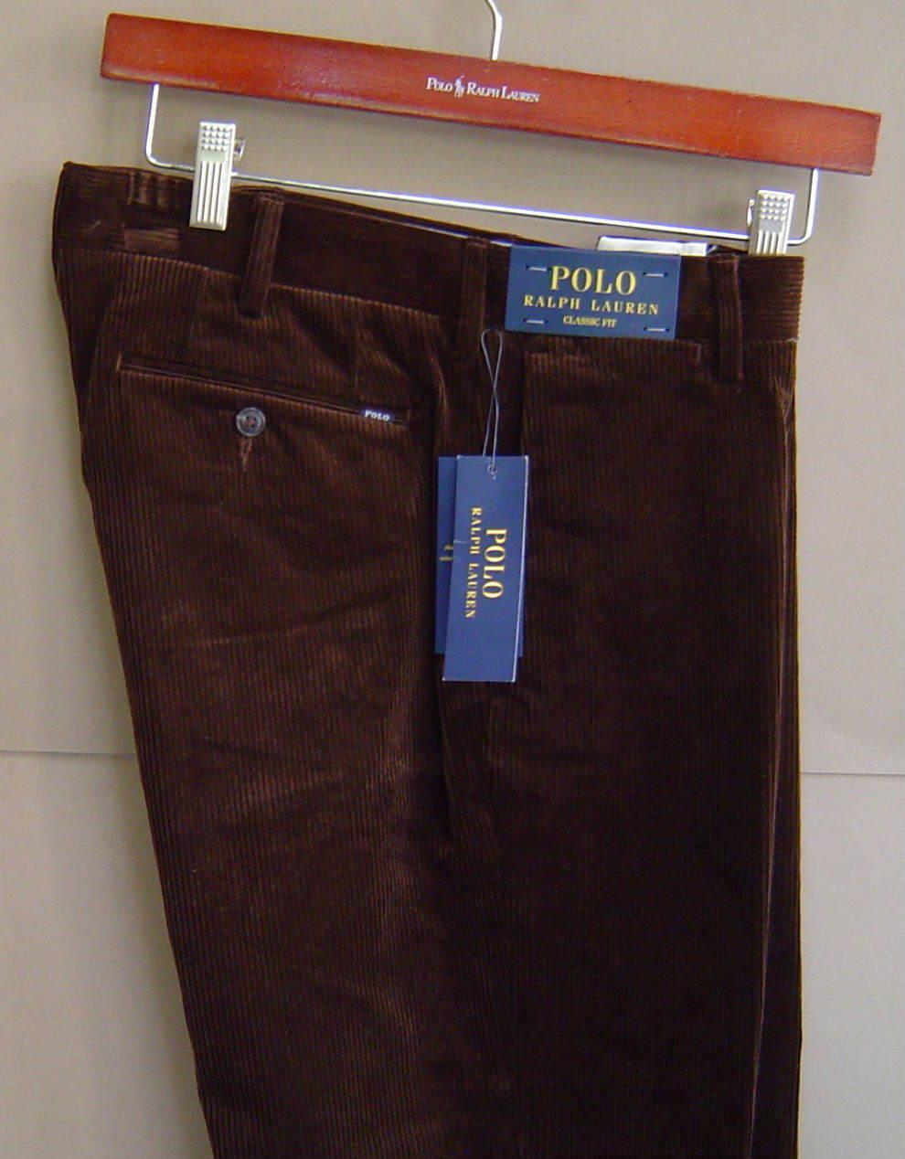 NWT  POLO RALPH LAUREN Mens 30 30 CLASSIC FIT Newport Corduroy Pants BROWN