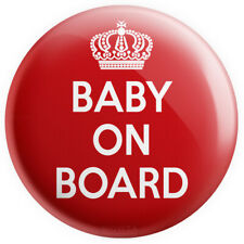 Baby On Board Mum To Be Pregnant Bump Baby Show 50mm Pin Button Badge Pink