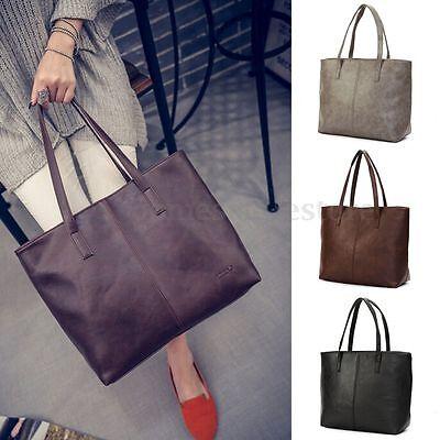 Fashion Women Leather Shoulder Bag Tote Satchel Purse Messenger Large Handbag