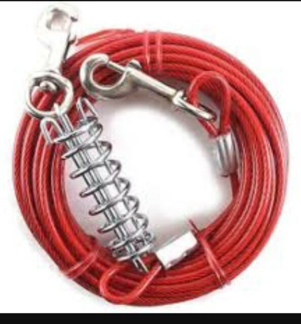 15 ft Rosewood Yard Accessories Tie-Out Cable