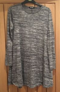 Missguided-Grey-Swing-Mini-Dress-Size-S-M-Perfect-Condition