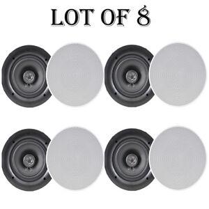 Quantity 4 Pyle PDIC60 250 Watt 6.5/'/' 2-Way In-Ceiling Speakers