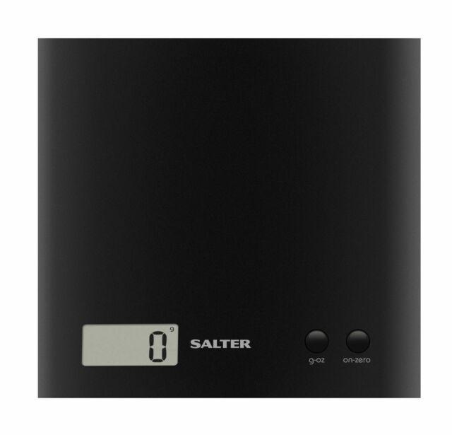 Salter Arc Electronic Digital Kitchen Scales - Black - 1066 BKDR15- NEW