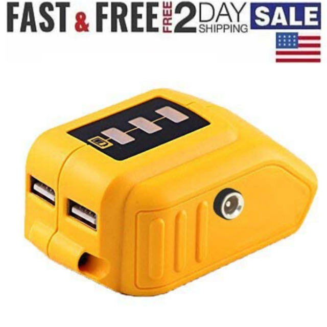20V Max Power Source for Dewalt Heated Jacket DCB091 Converters with USB New