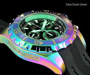 Invicta 52mm pro diver ocean master limited edition chronograph iridescent watch ebay for Bulltoro watches