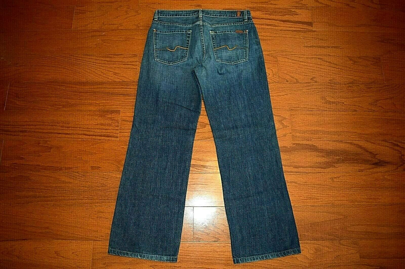 7 For All Mankind - RELAXED STRAIGHT Leg bluee Jeans Men 33 x 31 - Made in USA