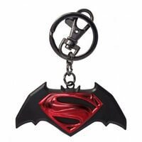 Batman Vs Superman Movie Logo Colored Pewter Key Ring Keychain on sale