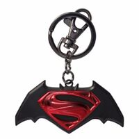 Batman Vs Superman Movie Logo Colored Pewter Key Ring Keychain on sale