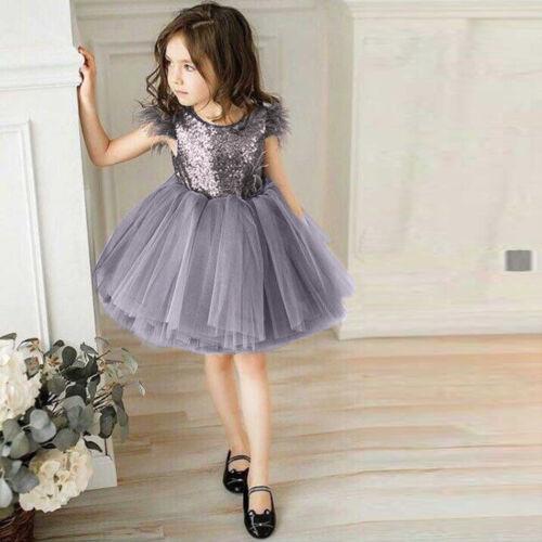 Kid Baby Girls Sleeveless Dress Child Clothes Tutu Sundress Princess Dresses