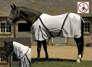 SALE-SAVE-6-Rhinegold-Mesh-Detachable-Full-Neck-Combo-Horse-Fly-Rug-Tail-Flap
