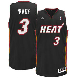 pretty nice da7be 9fe58 Details about JERSEY MIAMI HEAT WADE 3 ADIDAS XL OFFICIAL NEW BASKETBALL  SPORT AUTHENTIC NBA