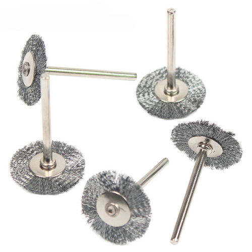 20Pcs//Set Steel Wire Brushes Metal Rust Removal Polishing Brush for Rotary Tools
